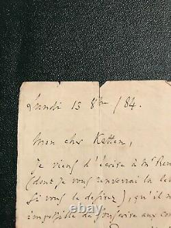 Charles Gounod Autograph Letter Signed In 1884 Leopold Ketten