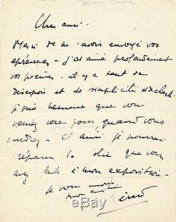 Christian Bérard Autograph Letter Signed Painter Exposure Suits