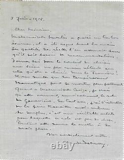 Claude Debussy Autograph Letter Signed Opera Pelléas Et Mélisandre