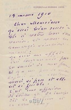 Claude Monet / Autograph Letter Signed
