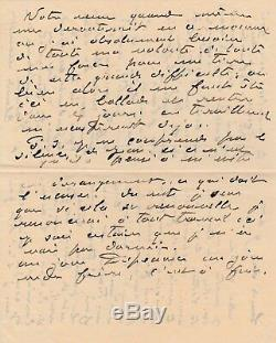 Claude Monet Autograph Letter Signed On Rouen Cathedrals