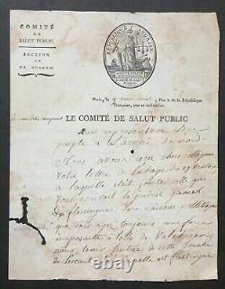 Committee Of Public Hi Signed Handwritten Letter Sieyes, Boissy, Merlin. 1794