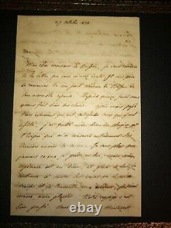 Duc De Bordeaux / Count Of Chambord / Henri V. Autograph Letter Signee
