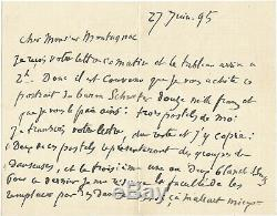 Edgar Degas / Autograph Letter Signed About Her Dancers And Delacroix