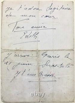 Edith Piaf Autograph Letter Signed From His Last American Tour (1959)