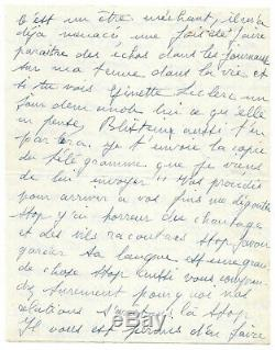 Edith Piaf / Autograph Letter Signed / Yves Montand Break