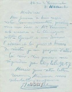 Edmond Lachenal Ceramist Painter Autograph Letter Signed Friend Visit