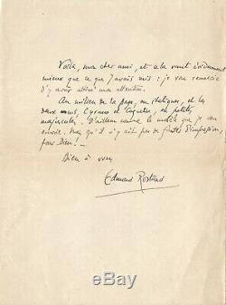 Edmond Rostand / Autograph Letter Signed About Cyrano De Bergerac