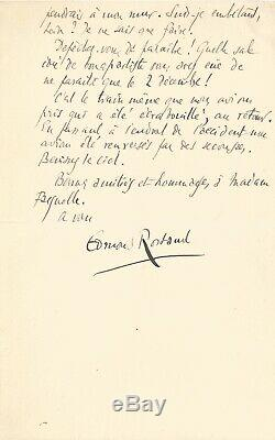 Edmond Rostand / Autograph Letter Signed To His Editor Eugene Fasquelle