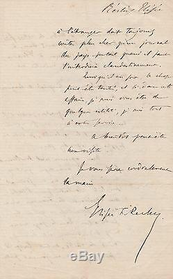 Elisee Reclus Signed Autograph Letter Anarchiste Francais