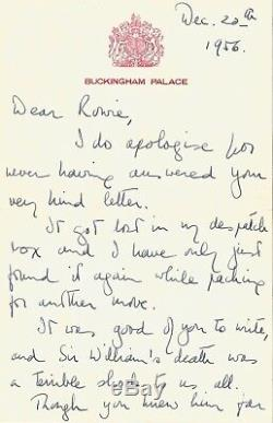 Elizabeth II Autograph Letter Signed. 4 Pages. 1956. God Save The Queen
