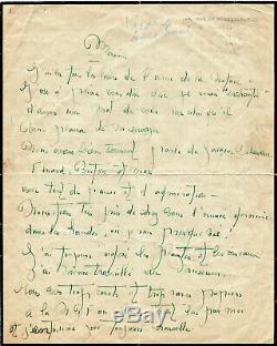 Eluard, Breton And Me. Lise Deharme Poet, Autograph Letter Signed