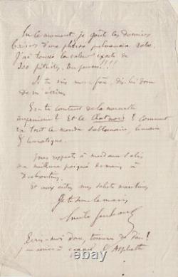 Émile Goudeau Rare Autograph Letter Signed To Rodolphe Salis