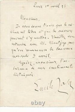 Émile Zola Autograph Letter Signed At Home Releases The Kitchen