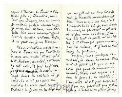 Emile Zola / Autograph Letter Signed / Dreyfus Affair / Exile / Trials
