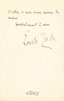 Émile Zola Autograph Letter Signed On Dreyfus Affair. December 1897