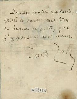 Emile Zola / Autograph Letter Signed Slnd