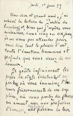 Émile Zola Signed Autograph Letter. Exile, Dreyfus And Literature. 1899