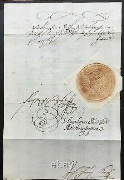 Emperor Leopold I (saint-empire) Kaiser Hrr- Letter Signed Letter Signed-1666
