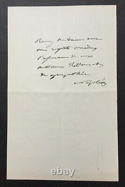 Emperor Napoleon III Autograph Signed 1870