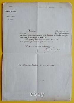 Empress Eugenie De Montijo (1826-1920) Letter Signed 1862 Napoleon III