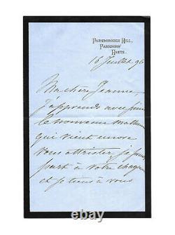 Empress Eugenie De Montijo / Autograph Letter Signed / Exile / Second Empire