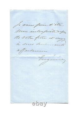 Empress Eugenie De Montijo / Autograph Letter Signed / Marriage / Exile