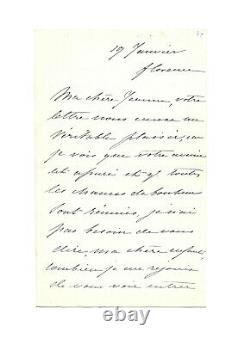 Empress Eugenie / Signed Autograph Letter / Exile / Second Empire / Palace