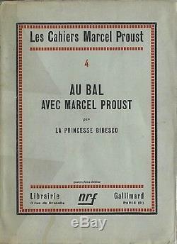 Eo Princess Bibesco + Dedication + Autograph Letter Au Bal With Marcel Proust