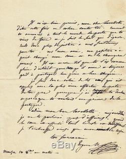 Eugène De Beauharnais Autograph Letter Signed In Lavalette. Napoleon