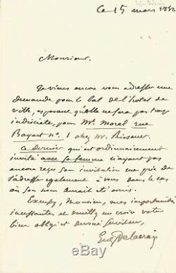 Eugène Delacroix Autograph Letter Signed