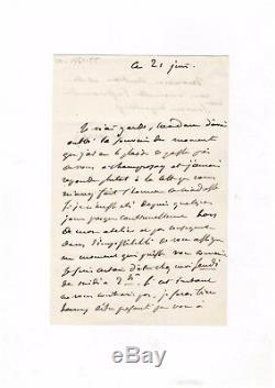 Eugène Delacroix / Letter Autograph Signed (1854) / To Joseph Autran's Wife