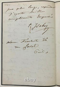 Eugène Isabey Signed Autograph Letter About A Navy