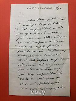 Eugene Labiche Autograph Letter Signed / War Of 1870