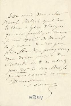 Eugene Sue Autograph Letter Signed To Hetzel 1845