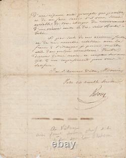 Eugene-françois Vidocq Autograph Letter Signed