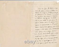 Félicien David Beautiful Autograph Letter Signed Le Sapphire To Michel Carré