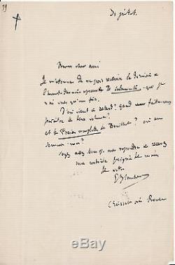 Flaubert Autograph Letter Signed On Salammbô
