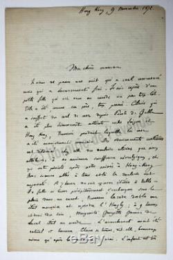 Francis Garnier Six Letters Signed Autographs, December 18 (-)