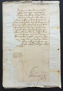 Francis I King Of France Document - Letter Signed 1536