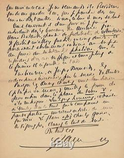 Francis Jammes Autograph Letter Signed To Alfred Valette His Entry To The Academy