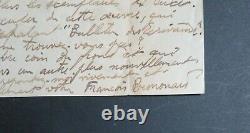 Francois Bernouard Belle Letter Autograph Signee A Maurice Verne Du Front 1916