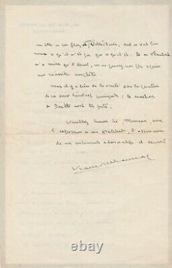 François Mauriac Autograph Letter Signed Gustave Flaubert