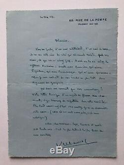 Francois Mauriac Autograph Letter Signed Robert Levesque Homosexuality Curiosa