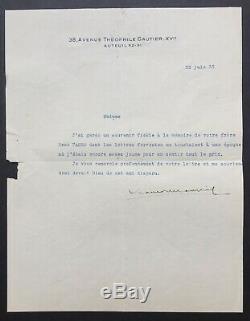 François Mauriac Beautiful Autograph Letter Signed (2) + Letter Signed