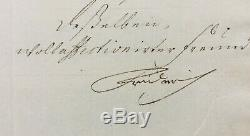 Frederic Grand Friedrich II Signed Letter Signed Letter 1735