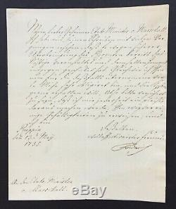 Frederic Grand Letter Signed Friedrich II The Great-signed Letter 1735