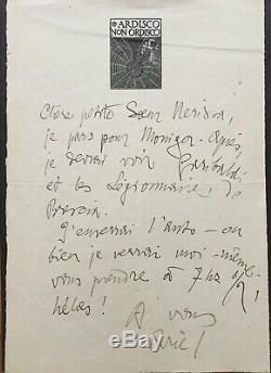 Gabriele D'annunzio Autograph Letter Signed Lettera Autografa Firmata Als