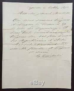 Garibaldi Giuseppe-signed Autograph Letter- Lettera Autografa Firmata- Caprera