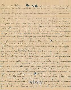 Gaston Chaissac Autograph Letter Signed His Need To Write And About Jews